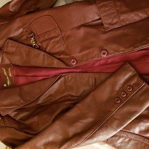 Etienne Aigner leather blazer